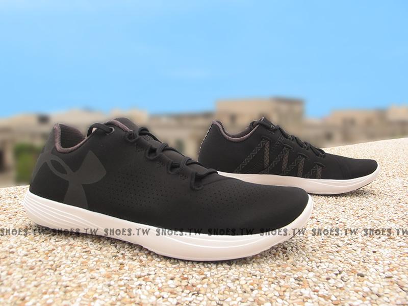 Shoestw【1274413-001】UNDER ARMOUR 慢跑鞋 Street Precision 黑色 女生