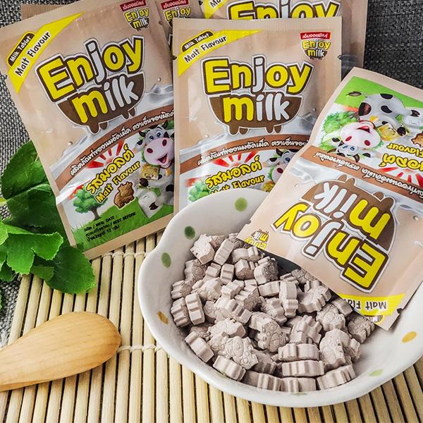 泰國零食 Enjoy milk營養牛奶片(巧克力麥芽)
