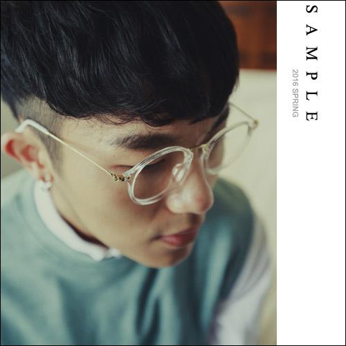 鏡框 透明框細金邊平光眼鏡【AG15522】- SAMPLE
