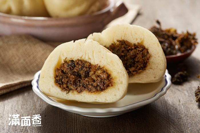 【滿面香】梅乾菜肉包 - 4顆入
