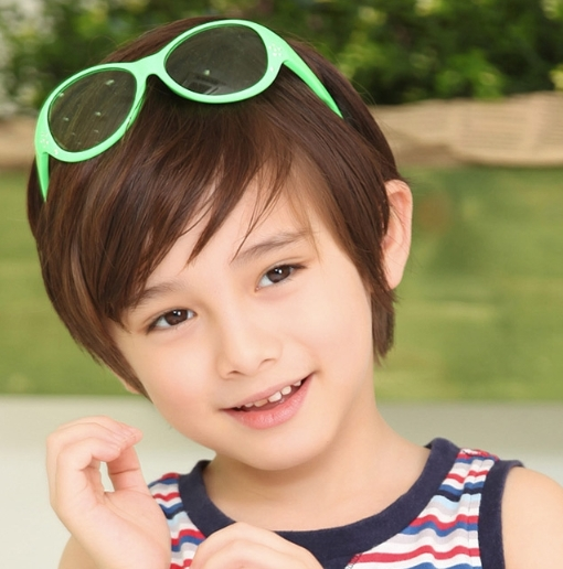 Kocotree◆時尚花朵水晶鑽氣質純色嫩色百搭兒童太陽眼鏡-綠色