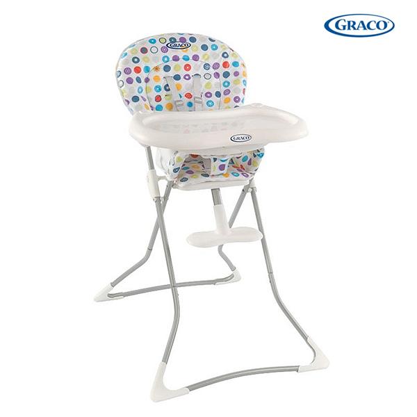 【愛寶媽咪】Graco 簡便型高腳餐椅(Tea Time 繽紛世界)