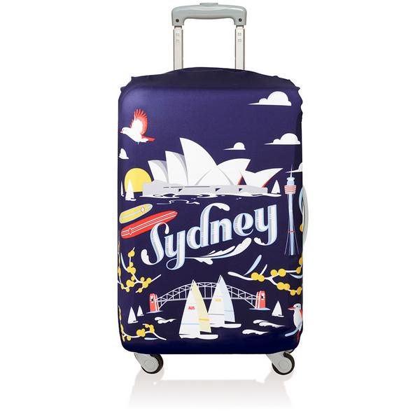 【騷包館】LOQI 德國品牌 時尚高防護防塵行李箱套(中)==雪梨 LO-LMURSY
