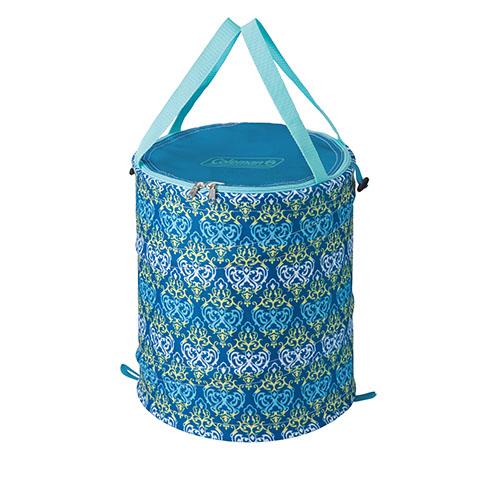 【露營趣】中和 美國 Coleman 藍葉圖騰萬用魔術桶 裝備袋 RV桶 雜物袋 垃圾桶 CM-21913
