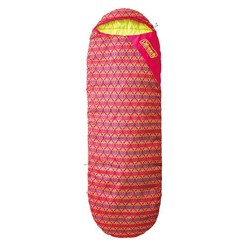 【露營趣】中和 美國 Coleman 紅葉圖騰睡蛋 纖維睡袋 背包客 遊學 露營CM-22271
