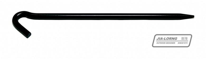 【露營趣】中和 嘉隆 短大釘 大黑釘 營釘(24cm) 天幕帳 客廳帳可用 R-02