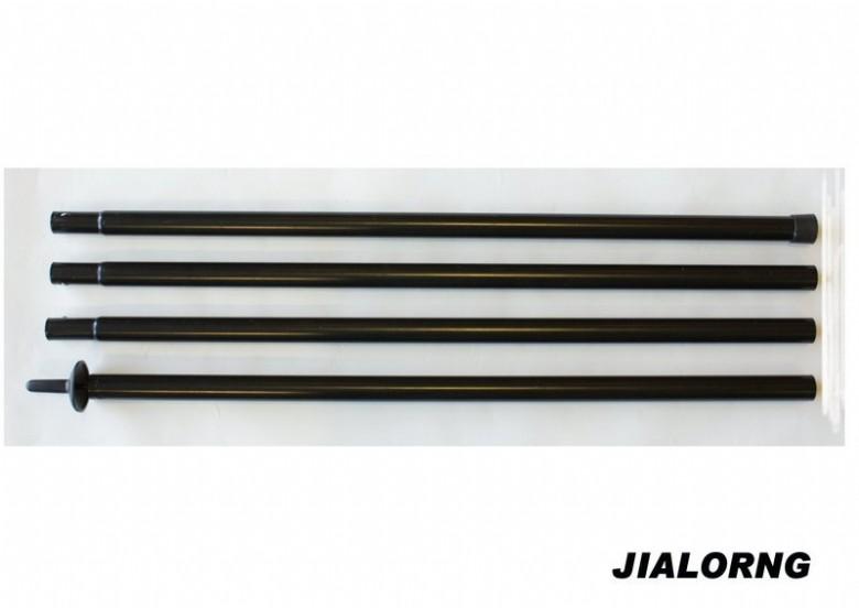 【露營趣】中和 嘉隆 280cm-25mm 天幕帳 炊事帳 鐵製組合營柱 鐵柱 TP-128