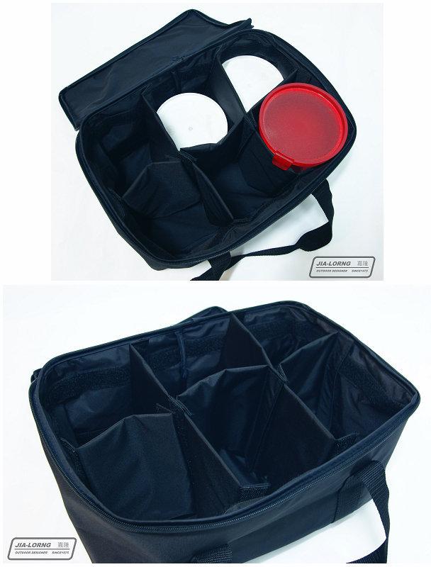 【露營趣】中和 嘉隆 小攜行袋 裝備帶 收納袋 手提袋 料理袋 鍋具袋(可拆式隔間) BG-026
