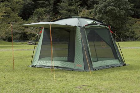 【露營趣】中和 日本 LOGOS LG71807001 Neos綠楓320帳 客廳帳 網屋 炊事帳 遮陽帳篷