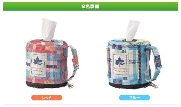 【露營趣】中和 日本 LOGOS 愛麗絲格紋廁紙架 衛生紙架 餐巾紙盒 面紙盒 面紙袋 紅LG73189009 藍LG73189010