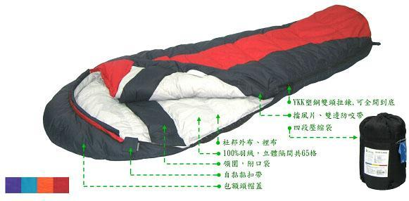 【露營趣】Lirosa 吉諾佳 AS300B 保暖羽絨睡袋 澳洲遊學打工 背包客棧會員團購指定款