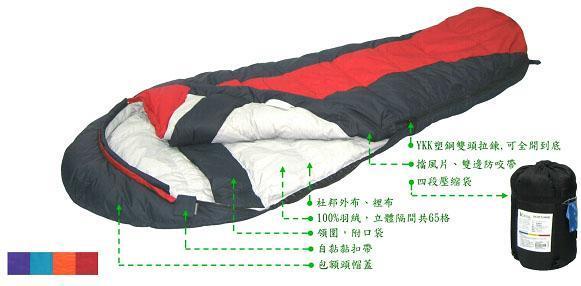 【露營趣】Lirosa 吉諾佳 AS500B 保暖羽絨睡袋 澳洲遊學打工 背包客棧會員團購指定款