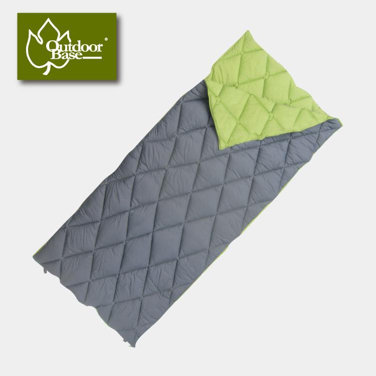 【露營趣】Outdoorbase 綠葉方舟 Thermolite睡袋 纖維睡袋 可雙拼 情人睡袋 保暖睡袋 24363