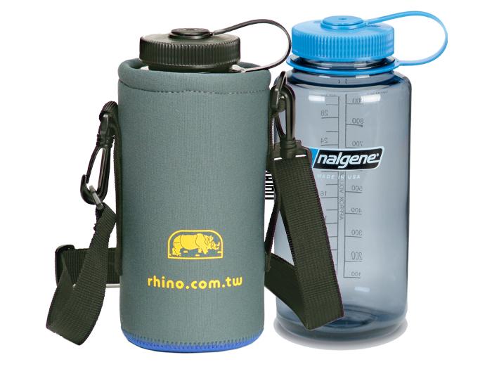 【露營趣】中和 犀牛 RHINO 315L可揹式 水壺套 保溫 保冰 保冷 休閒水壺 來勁 nalgene