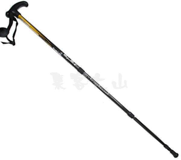 【露營趣】RHINO 犀牛 超輕 輕量 碳纖維登山杖 避震登山杖 T型登山杖 789 僅重212g