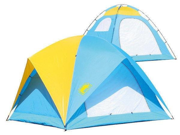 【露營趣】中和 送鋁箔墊手電筒 台製 犀牛 RHINO A-065 六人高頂蝶式帳篷 6人帳 六人帳篷 登山露營帳篷