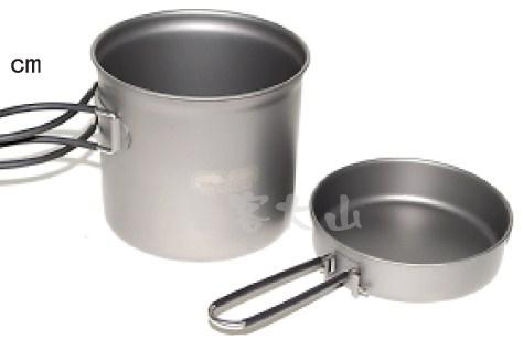 【露營趣】中和 附手電筒 犀牛 KT-14 超輕鈦合金鍋 鈦鍋 單人鍋 湯鍋 煎盤 平底鍋