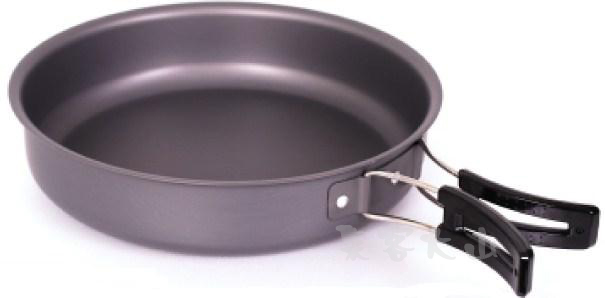 【露營趣】中和 犀牛 RHINO k-38 鋁合金煎盤 煎鍋 平底鍋 摺疊把手