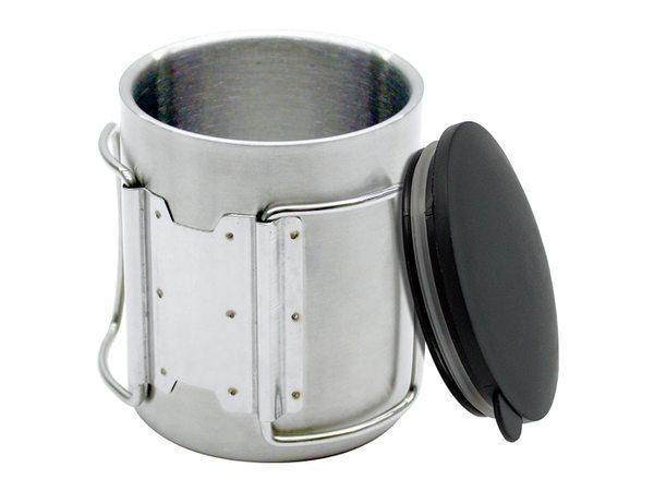 【露營趣】中和 犀牛 RHINO KS-1 雙層不銹鋼斷熱杯 保溫杯 鋼杯 斷熱杯 隔熱杯