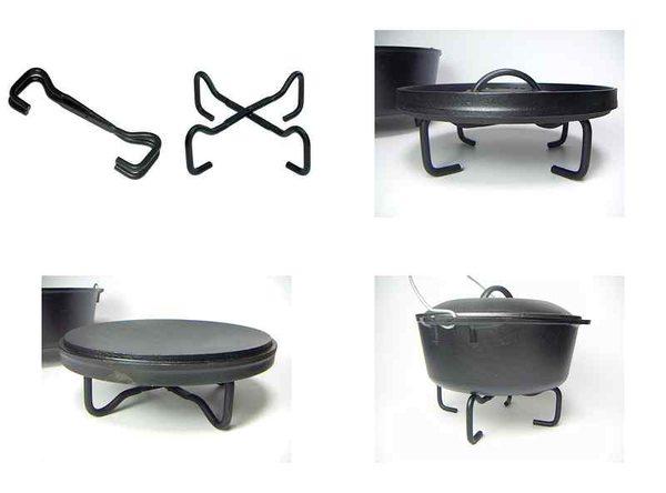 【露營趣】MAGIC RV-IRON 001 可折疊荷蘭鍋架/鍋蓋架/荷蘭鍋/鑄鐵鍋/平底鍋 鍋架