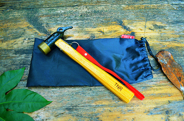 【露營趣】中和 35mm 銅頭營槌 銅槌 拔釘器 營釘錘 營釘槌 tnr-008