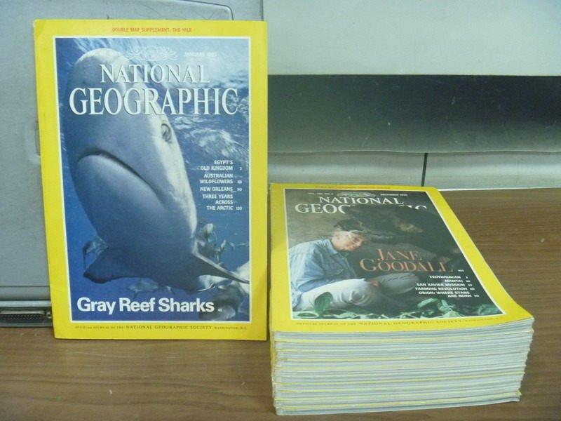 【書寶二手書T2/雜誌期刊_RHL】國家地理雜誌_1995/1~12月缺3月_11本合售_Gary Reef.._英文
