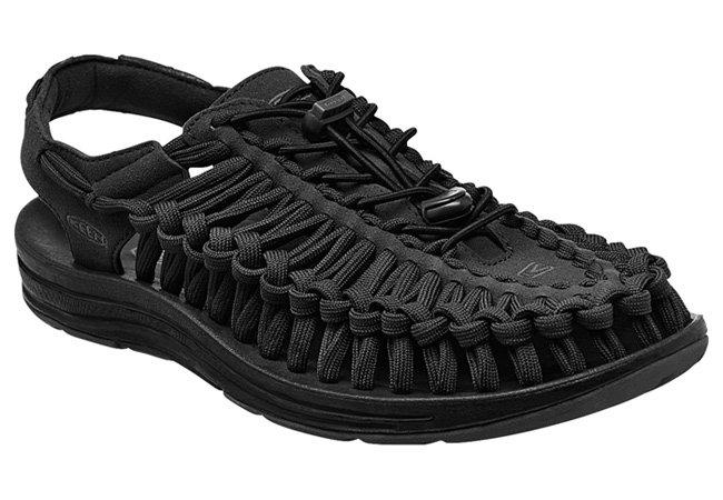 ├登山樂┤美國KEEN UNEEK FLAT 男款編織涼鞋 黑 #1015537