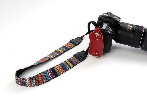 攝彩@懷舊復古民族風加寬肩帶Goto 細條紋背帶 單反相機帶 背帶-20607