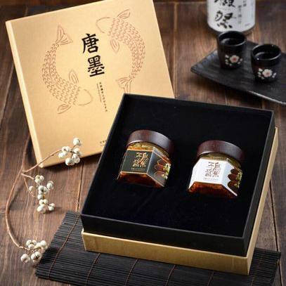 (免運)【唐墨烏魚子】(買)烏魚子醬禮盒(110G / 2入)「再送 美味隨手包(40g)」#年菜#野生烏魚子#伴手禮