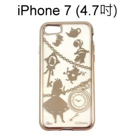 迪士尼電鍍軟殼[項鍊]愛麗絲 iPhone 7 (4.7吋)【Disney正版授權】