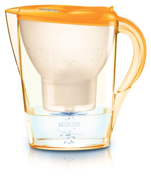 [淨園] 德國BRITA Marella Cool 2.4L馬利拉花漾壺濾水壺(金盞橘)【內含一支濾芯】-可放冰箱門