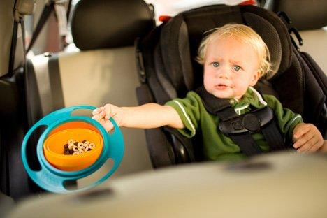 *GouQu*兒童碗.塑膠碗.陀螺碗.不倒碗 不會打翻的碗 飛碟造型旋轉兒童碗