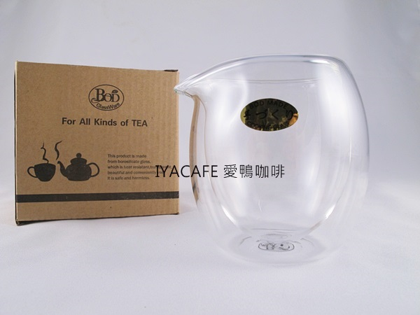 《愛鴨咖啡》GK-321B 雙層玻璃 茶海