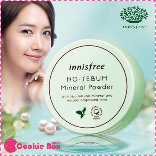韓國 innisfree 無油光 薄荷 礦物 控油 蜜粉 5g 臉部 少女時代 潤娥 *餅乾盒子*