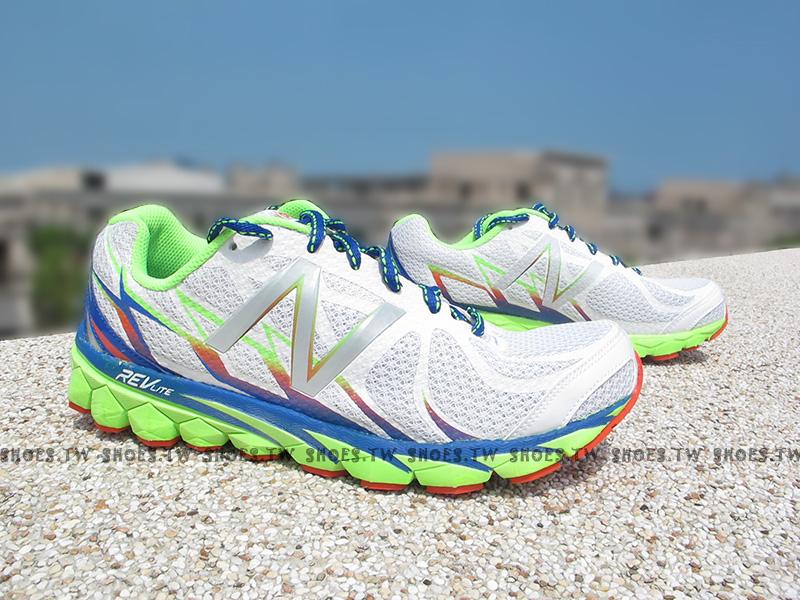 《超值4.9折》Shoestw【M3190WB1】NEW BALANCE 慢跑鞋 白藍綠 彩虹 2E楦頭 男生