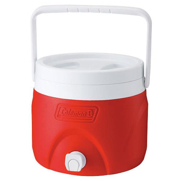【鄉野情戶外專業】 Coleman  美國   7.6L 置物型飲料桶/冰桶 保鮮桶 保冰箱-紅/CM-1362JM000