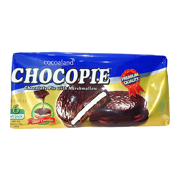 【預購 11月底到貨】Cocoaland 黑巧克力風味派─150g (6入)