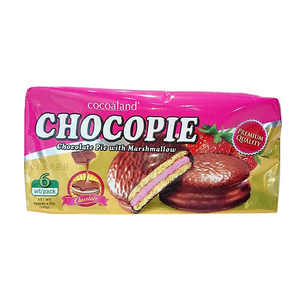 【預購 11月底到貨】Cocoaland 巧克力風味派(草莓味)─150g (6入)