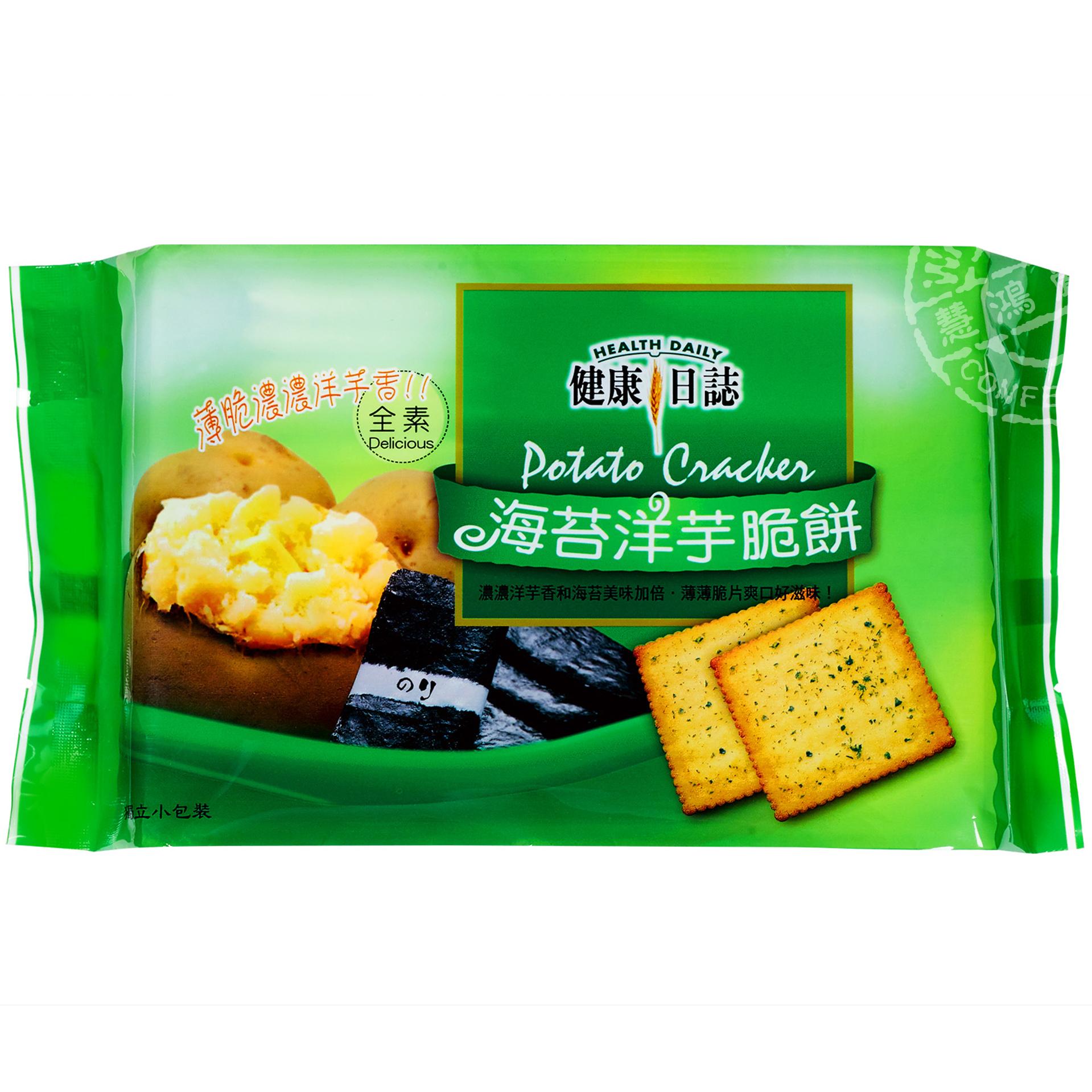 健康日誌 海苔洋芋脆餅─192g