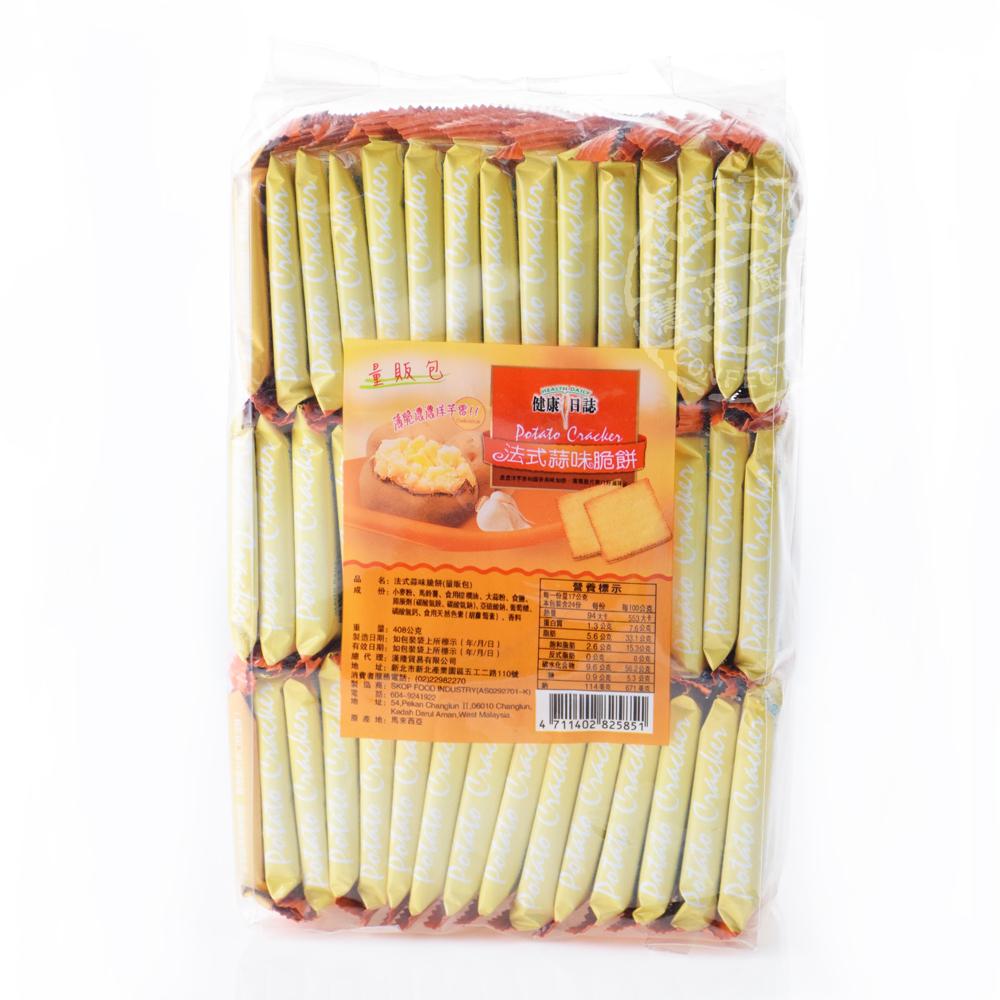 健康日誌 法式蒜味脆餅─量販包408gx8包(箱入)