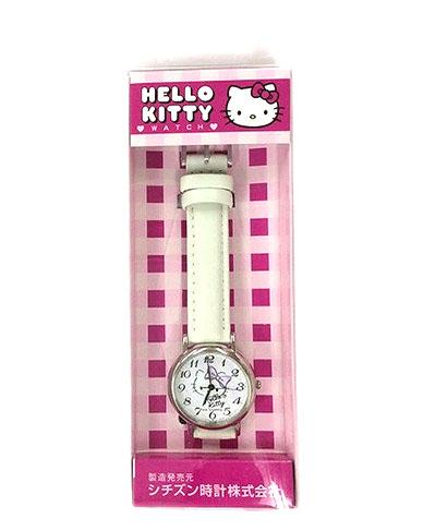 【真愛日本】16070800003盒裝圓錶-KT大頭彩色數字白     三麗鷗 Hello Kitty 凱蒂貓   手錶 造型錶 配件