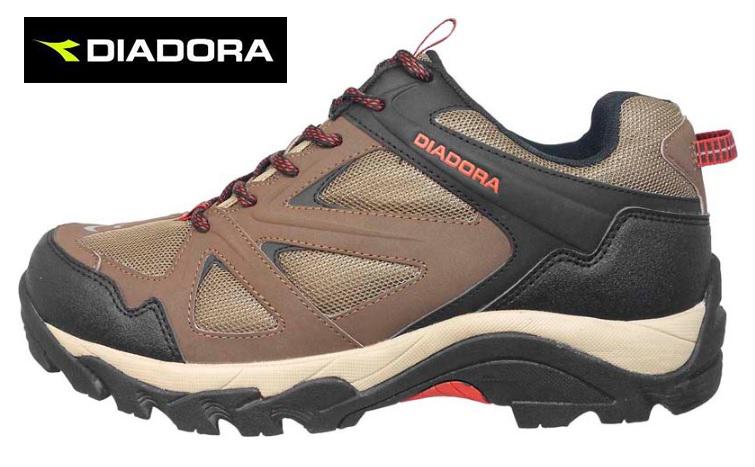 【巷子屋】義大利國寶鞋-DIADORA迪亞多納 男款防潑水寬楦戶外運動鞋 [3711] 咖啡 超值價$896