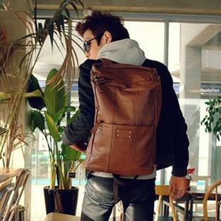 【瞎買天堂x後背首選】韓式風格皮質後背包 多口袋 大容量 超有型!【BGAA0201】