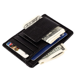【瞎買天堂x多功實用】牛皮鈔票夾 可放信用卡 證件夾 功能多樣 收納強!【CBAA0402】
