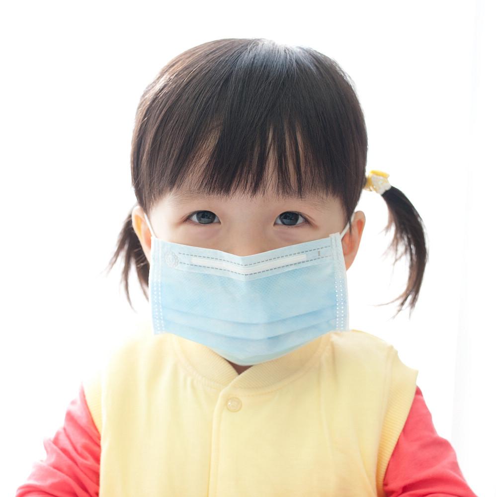 PS Mall 日韓素面純色兒童平面防塵/保護喉嚨口罩50入【J872】