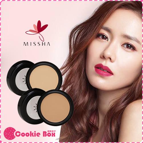 韓國 MISSHA 美思 完美 遮瑕膏 自然 明亮 痘疤 黑眼圈 雀斑 修容 孫藝珍 3g *餅乾盒子*