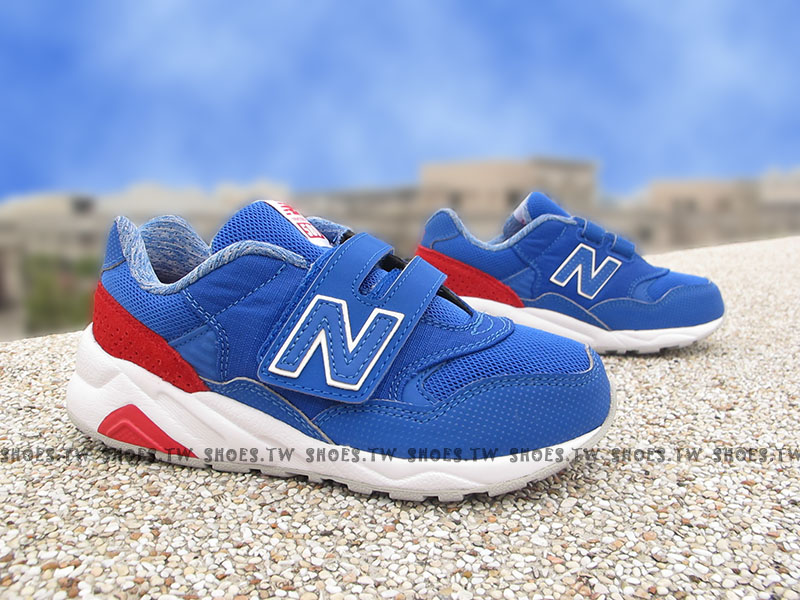 Shoestw【KV580MKP】NEW BALANCE 580 復古慢跑鞋 童鞋 運動鞋 中童 藍白紅