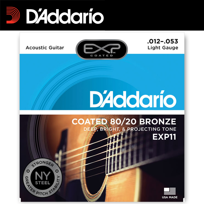 【非凡樂器】D'addario 【木】民謠吉他弦 EXP11 黃銅包覆/全新包裝