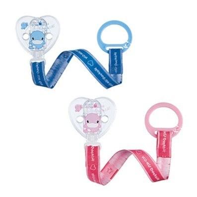 【全系列滿$500送夜燈玩具】台灣【Kuku 酷咕鴨】心型奶嘴鍊(藍/粉)