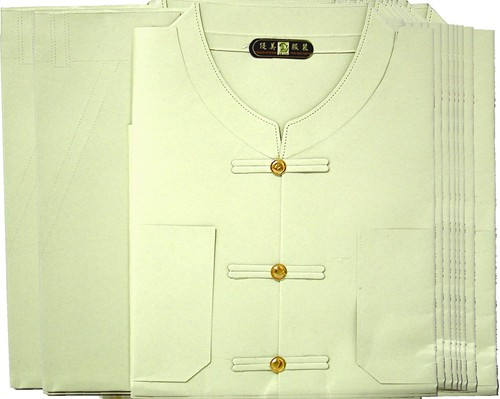 AA224  袋裝 優美男唐裝